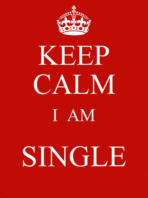 Keep Calm. I am single.
